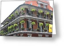 Balcony In New Orleans Greeting Card
