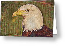 Bald Eagle Embroidered Greeting Card