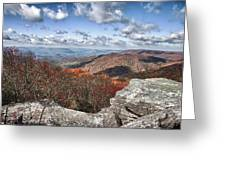 Bald Knob Overlook Near Mountain Lake Greeting Card