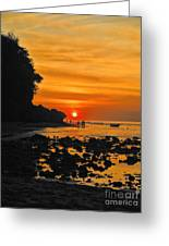 Bali Indonesian Sunset Greeting Card