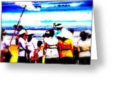 Balinese Beach Funeral  Greeting Card