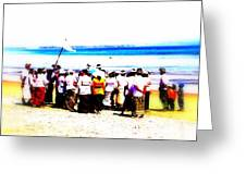 Balinese Beach In Mourning Greeting Card
