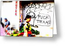 Balinese Tagging Texas Greeting Card