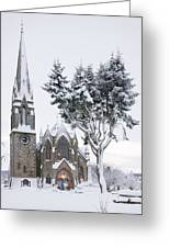 Ballater Church In Snow Greeting Card