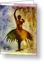 Ballerina 1 With Border Greeting Card