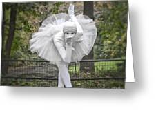 Ballerina In The Park Greeting Card