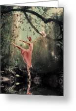 Ballerina Greeting Card by Lee-Anne Rafferty-Evans