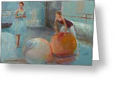 Ballet Class With Balls Greeting Card by Irena  Jablonski