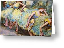 Ballet Dancers In The Wings Greeting Card