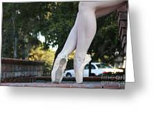Ballet Legs Greeting Card