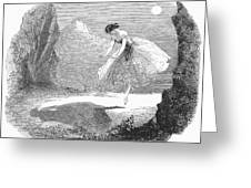Ballet: Ondine, 1843 Greeting Card