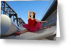 Ballet Splits Greeting Card