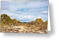 Ballintoy Bay Basalt Rock Greeting Card