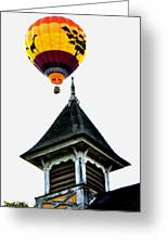 Balloon By The Steeple Greeting Card