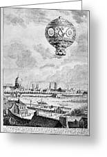 Balloon Flight, 1783 Greeting Card