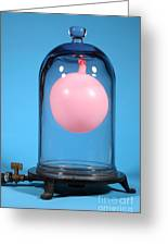 Balloon In A Vacuum, 2 Of 4 Greeting Card