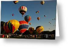 Balloons At Flight Greeting Card