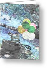 Balloons In The Park Greeting Card