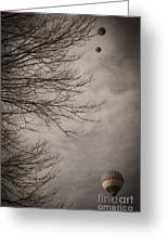 Balloons In The Pines Greeting Card