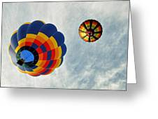 Balloons On The Rise Greeting Card