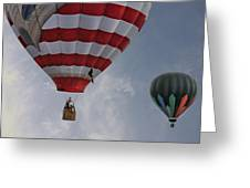 Balloons Over Readington Greeting Card