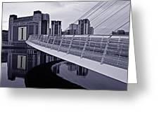 Baltic And Gateshead Millennium Bridge Greeting Card