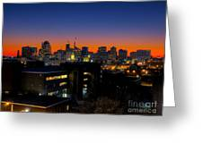 Baltimore At Sunset Greeting Card