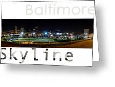 Baltimore Downtown Greeting Card