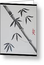 Bamboo Art Greeting Card