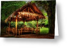 Bamboo Hut   Greeting Card