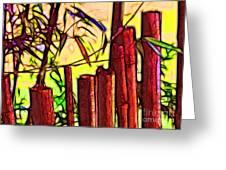 Bamboo Wind Chimes Greeting Card