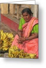 Banana Seller Greeting Card
