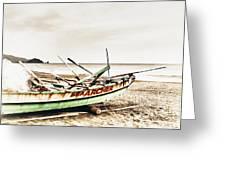 Banca Boat Greeting Card