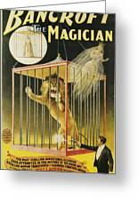 Bancroft The Magician Greeting Card by Unknown