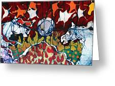 Band Of Horses Greeting Card by Carol Law Conklin
