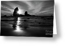 Bandon Beach Sunset Greeting Card