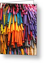Bands Of Color Greeting Card