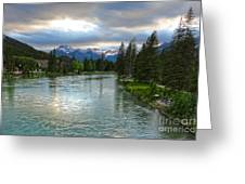 Banff And The Bow River - 02 Greeting Card