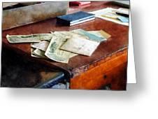 Bank Checks Dated 1923 Greeting Card