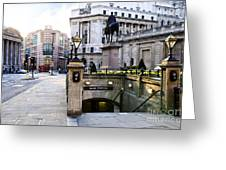 Bank Station Entrance In London Greeting Card