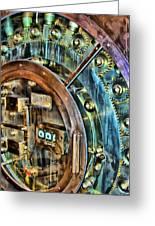 Bank Vault Door Greeting Card