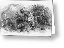 Banknote: Native American Attack Greeting Card