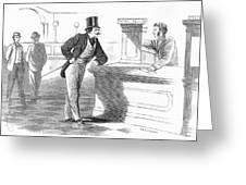 Banks And Banking, C1880 Greeting Card
