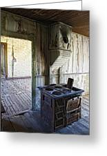 Bannack Ghost Town Kitchen Stove 2 Greeting Card