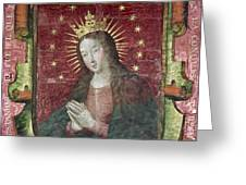 Banner Of Hernan Cortes Greeting Card