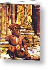 Banteay Srei Statue Greeting Card
