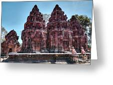 Banteay Srei Temple Central Towers  Greeting Card