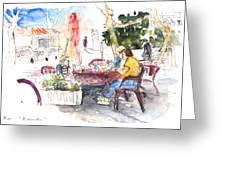 Bar Avenida En El Albir In Spain Greeting Card