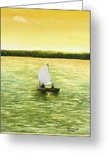 Bar Harbor Sailboat Greeting Card