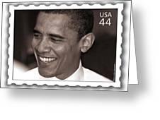 Barack Obama Portrait. Photographer Ellis Christopher Greeting Card
